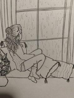Art Inspiration – Art World 20 Sad Drawings, Girl Drawing Sketches, Girly Drawings, Art Drawings Sketches Simple, Pencil Art Drawings, Sketch Art, Easy Sketches To Draw, Sad Girl Drawing, Art Journal Inspiration