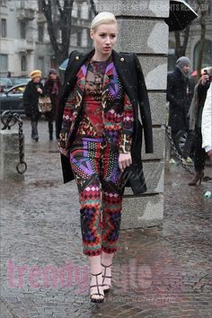 What a fantastic pattern! MFW 2013 Street Style