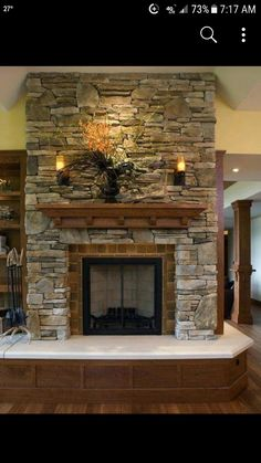 Wood front hearth.  Love almost all of it…not a fan of the seating area color