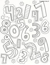 numbers coloring pages - each number from 0 to 10, plus this one of all