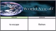 to escape - fliehen German Vocabulary Builder Word Of The Day #219 ! Full audio practice at World Vocab™! https://video.buffer.com/v/583e16038de875553352d576