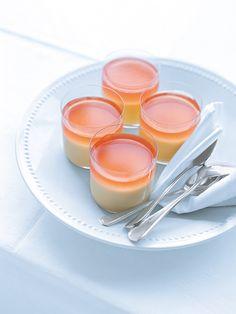 vanilla pannacotta with campari jelly