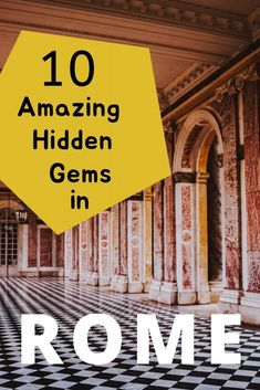There is a secret Rome just waiting to be discovered - ancient pyramids, unknown rooftop views and hidden masterpieces that even the locals don't know about. Here are our top 10 hidden gems of Rome. One Day In Rome, Rome Itinerary, European City Breaks, Long Holiday, Cities In Europe, Lake Como, Best Cities, Travel Goals, Great View