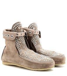 Isabel Marant - Morley studded suede moccasin boots