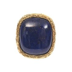 Aurélie Bidermann Miki lapis and gold-plated ring (£340) ❤ liked on Polyvore featuring jewelry, rings, blue, gold plated ring, boho jewelry, bohemian style jewelry, bohemian jewelry and bohemian rings