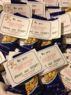 We are Nuts about our STAFF! Can be used for teacher appreciation week By:Yury O.