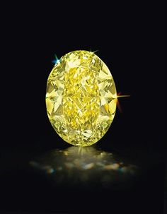 An Unmounted Oval-Cut Colored Diamond. Photo: Christie's Images Ltd    Weighing approximately 68.35 carats
