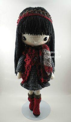 Tania-Amigurumi Doll Crochet Pattern PDF by CarmenRent on Etsy