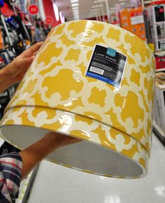 Totally inspired me to get some paint and spruce up my lamp shades.........Window Shopping: Some Overdue Target Practice | Young House Love
