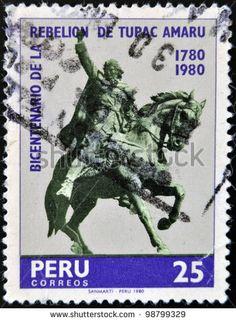Peru Stamp 1980 - Statue of Tupac Amaru