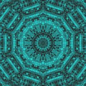 turquoise ribbons - krs_expressions - Spoonflower fabric