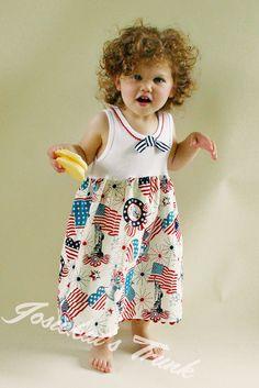4th of July Dress Liberty Custom Size 4/5 6/6X by josiekatstrunk