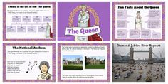 Perfect for whole-class teaching, this PowerPoint features some information to help support your teaching on Queen Elizabeth II. The resource includes information on who the queen is, her childhood, her family, her role and more. Hm The Queen, Primary Resources, National Anthem, Queen Elizabeth, Teaching Kids, Geography, United Kingdom, Map, City