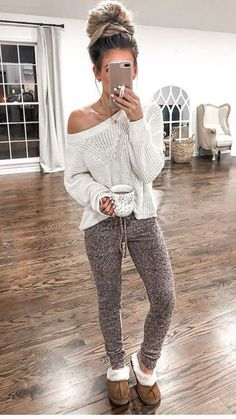 Simple Fall Outfits, Lazy Day Outfits, Fall Winter Outfits, Trendy Outfits, Cute Outfits, Fashion Outfits, Womens Fashion, Cute Lounge Outfits, Fashion Ideas