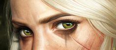 women's green eyes digital art Cirilla Fiona Elen Riannon The Witcher Wild Hunt The Witcher Geralt, Witcher Art, Overwatch, The Witcher Game, Triss Merigold, Eye Close Up, Yennefer Of Vengerberg, Slayer Anime, Eye Art