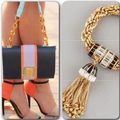 Una combinación espectacular. Dale color a tu vida esta temporada. #moda #fashion #trend #accesorios #rachelzoe #girly #swagger #shoes #handbags #orange #bracelet #zapatos #carteras #pulseras #accesories #ss14 #Padgram