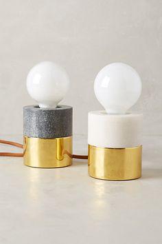 Flameless Pillar Lamp Base - anthropologie.com