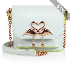 Sophia Webster Claudie Wan Mini Flamingo Leather Crossbody Bag
