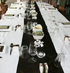 decoracion fiesta blanco y negro