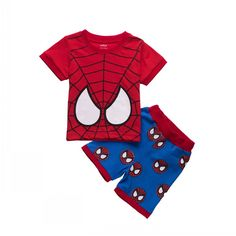Boys Spiderman Short Sleeve Shirt And Shorts (Age 1-7 Years Old) //Price: $9.99 & FREE Shipping //     #realmofsuperheroes