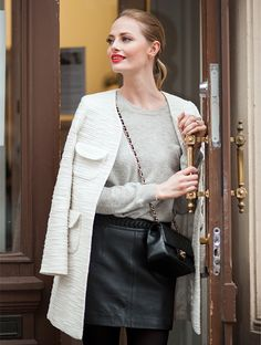 Model Sofia Ruutu: skirt, Zara / sweater, Santosh / bag, Chanel