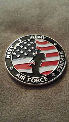 My military working dogs challenge coin back