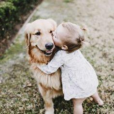 Golden Retriever kisses! How sweet!