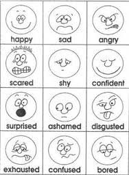 Opposite Feelings B&W worksheets matching Pinterest