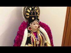 How to drape saree to Varamahalakmi Kalasa Gauri Decoration, Kalash Decoration, Diwali Decorations, Festival Decorations, Lakshmi Sarees, Saree Kuchu Designs, Asian Bridal Makeup, Saree Wearing, New Rangoli Designs