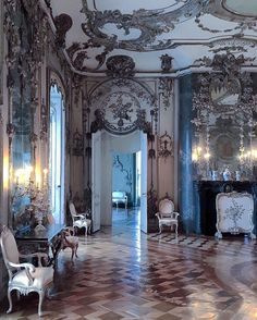 Frederick the Great's Silver Salon, Neue Palais, Potsdam. Neues Palais, Silver Room, Frederick The Great, Germany Poland, Sleeping Beauty Castle, Dreams Do Come True, Marquise, Beautiful Interiors, Luxury Interior
