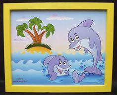 kreslene obrazky delfin delfini na stenu do pokoje. 249,-  Kč eshop www.soly.cz