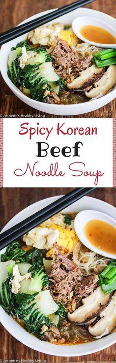 Spicy Korean Beef Noodle Soup