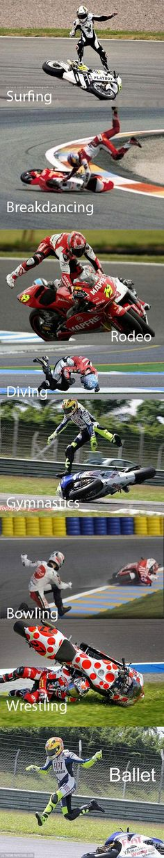 Sports combined with motorcycle racing...