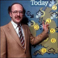 """Michael Fish, """"they say there is a storm on the way, it's not true"""" a few hours before the great storm hit in 1987 (a tree smashed through my bed room window and I still slept through it!!!)"""