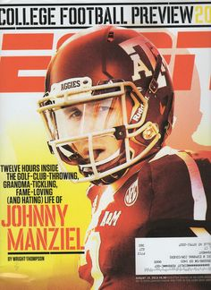 ESPN Magazine's 08/19/13 NCAA Preview cover  featuring Texas A&M's Johnny Manziel