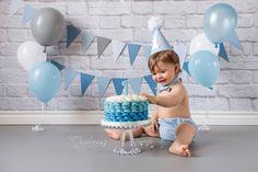 Grey, Blue, White Cake Smash© Daydreams Photography 2016 ~ Do Not Copy www.facebook.com/photographydaydreams