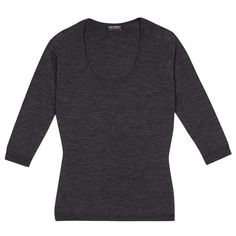 Flagg in Charcoal, the scoop neck essential