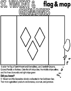 St. Vincent and Grenadines coloring page