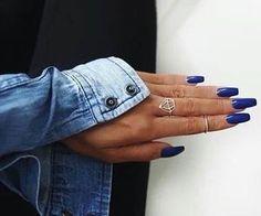 #blue #denim #bluenails