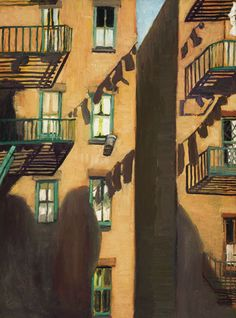 Alice Neel, Fire Escape,1948 I get a warm feeling looking at this painting.  It truly captures essence of NYC apt living.