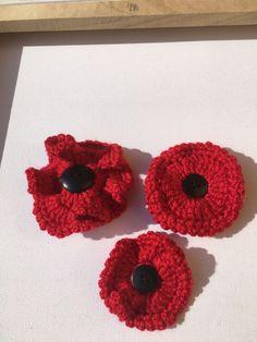 Crochet Poppy, Poppies, Crochet Earrings, Jewelry, Jewlery, Bijoux, Schmuck, Jewerly, Jewels