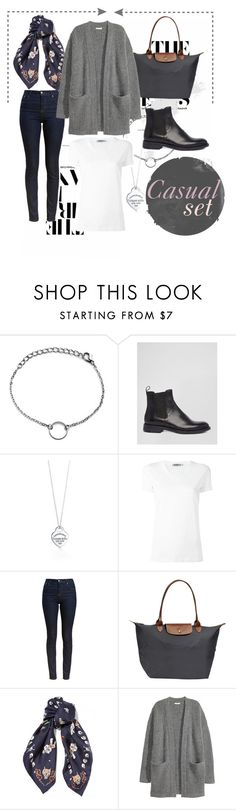 """""""Everyday outfit"""" by dobsdobs ❤ liked on Polyvore featuring Vagabond, Tiffany & Co., T By Alexander Wang, Barbour, Longchamp, Alexander McQueen and Kofta"""