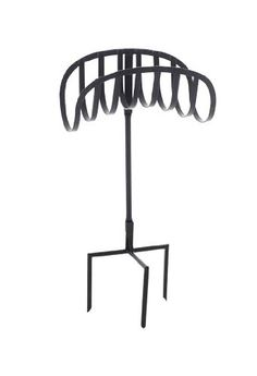 Liberty Garden Products 647 Manger 125 Foot Capacity Three Point Steel Garden  Hose Stand Black