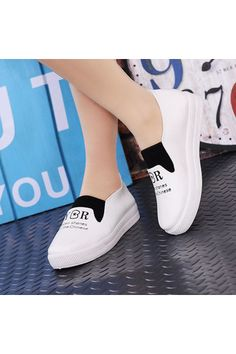 Vendoor BXW0081 Women Casual Flat Shoes Slip-ons White | Price: ฿606.00 | Brand: Unbranded/Generic | From: Top Seller Shoes - รวมรองเท้าแฟชั่น รองเท้าผู้ชาย รองเท้าผู้หญิง ราคาพิเศษ | See info: http://www.topsellershoes.com/product/61304/vendoor-bxw0081-women-casual-flat-shoes-slip-ons-white