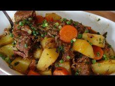 Carne de panela com cenouras e batatas - YouTube