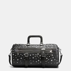 COACH Coach Flag Gym Bag In Pebble Leather With Studs