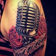 New School Microphone Tattoo Designs 5b4d6b17e5a385291fe6818c852f35 ...