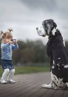 "Heartwarming photos of little kids with huge dogs as part of a collection from Russian photographer Andy Seliverstoff's book ""Little Kids and Their Big Dogs. Dogs And Kids, Animals For Kids, Animals And Pets, Dogs And Puppies, Cute Animals, Doggies, Corgi Puppies, Baby Dogs, Nature Animals"