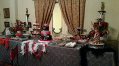 50 shades of Grey birthday party, sweet station #40ShadesofMaite I change the theme a little bit for my party