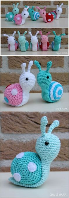 #Crochet Amigurumi Snail with Free Pattern   Crochet Snail Pattern